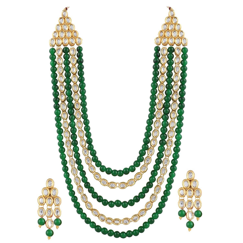 2f32fa2b8151e Shining Diva Fashion Latest Stylish 18k Gold Plated Kundan Wedding Party  Wear Necklace Set for Women