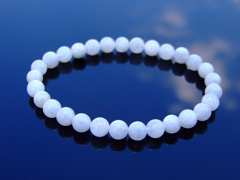 Women,Unisex Gemstone Bracelet Natural 8 mm Moonstone AA Quality Bead Bracelet-5 inch to 9 inch-Men Healing Stone