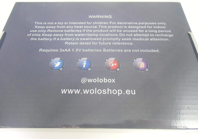 WoloShop Lampara LED Vivi FFIX Cambia Color USB Luz Nocturna