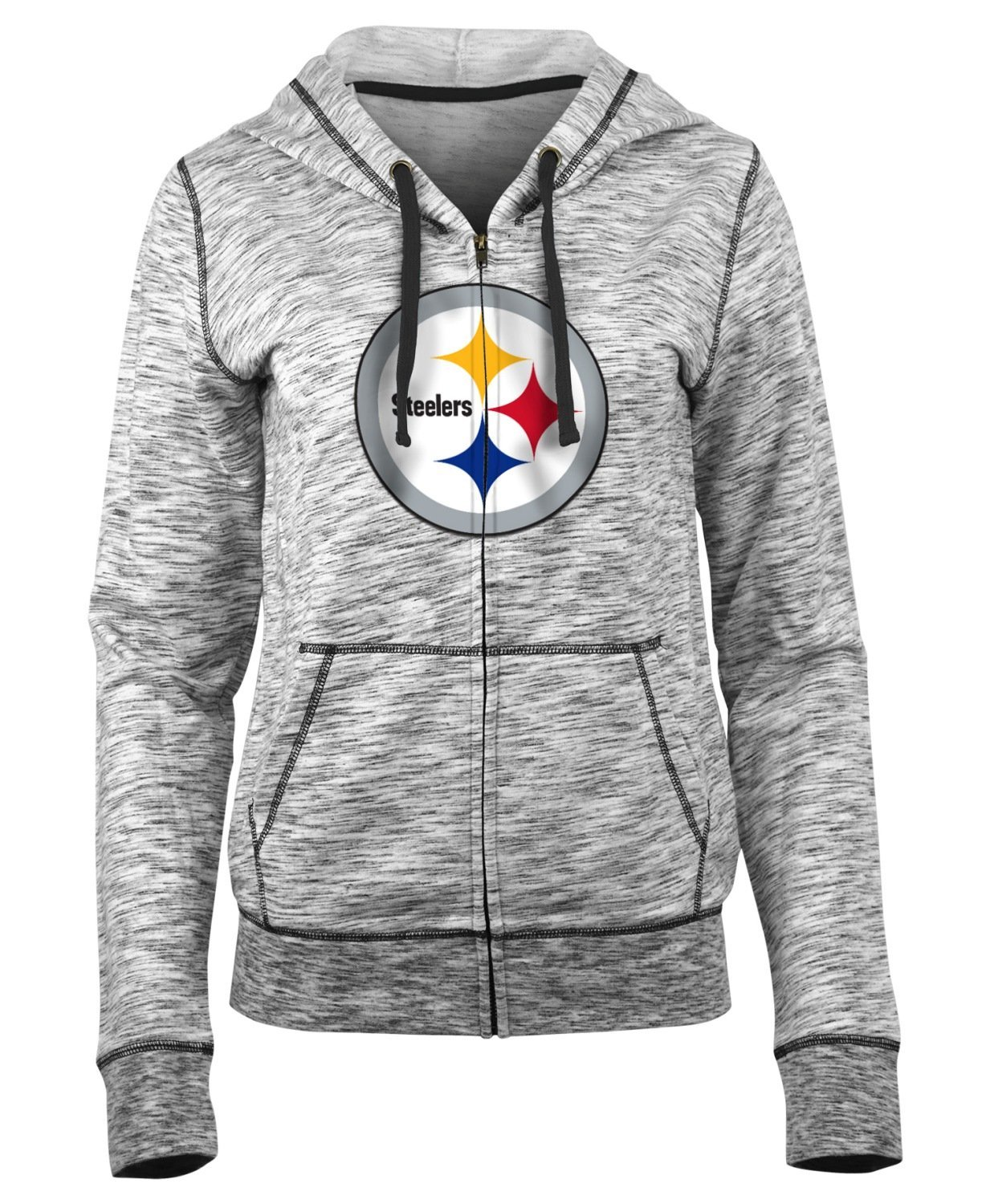 New Era Pittsburgh Steelers Women 's NFL Defense Space Dyeフード付きスウェットシャツ Small  B07DPT2V6C