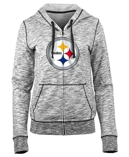 release date: b8a59 da525 New Era Pittsburgh Steelers Women's NFL Defense Space Dye Hooded Sweatshirt