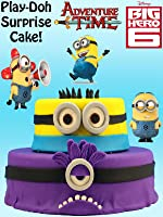 HUGE Despicable Me Minion Play Doh Cake opening with Funko, Vinylmation, Blind Bags, and more! [OV]