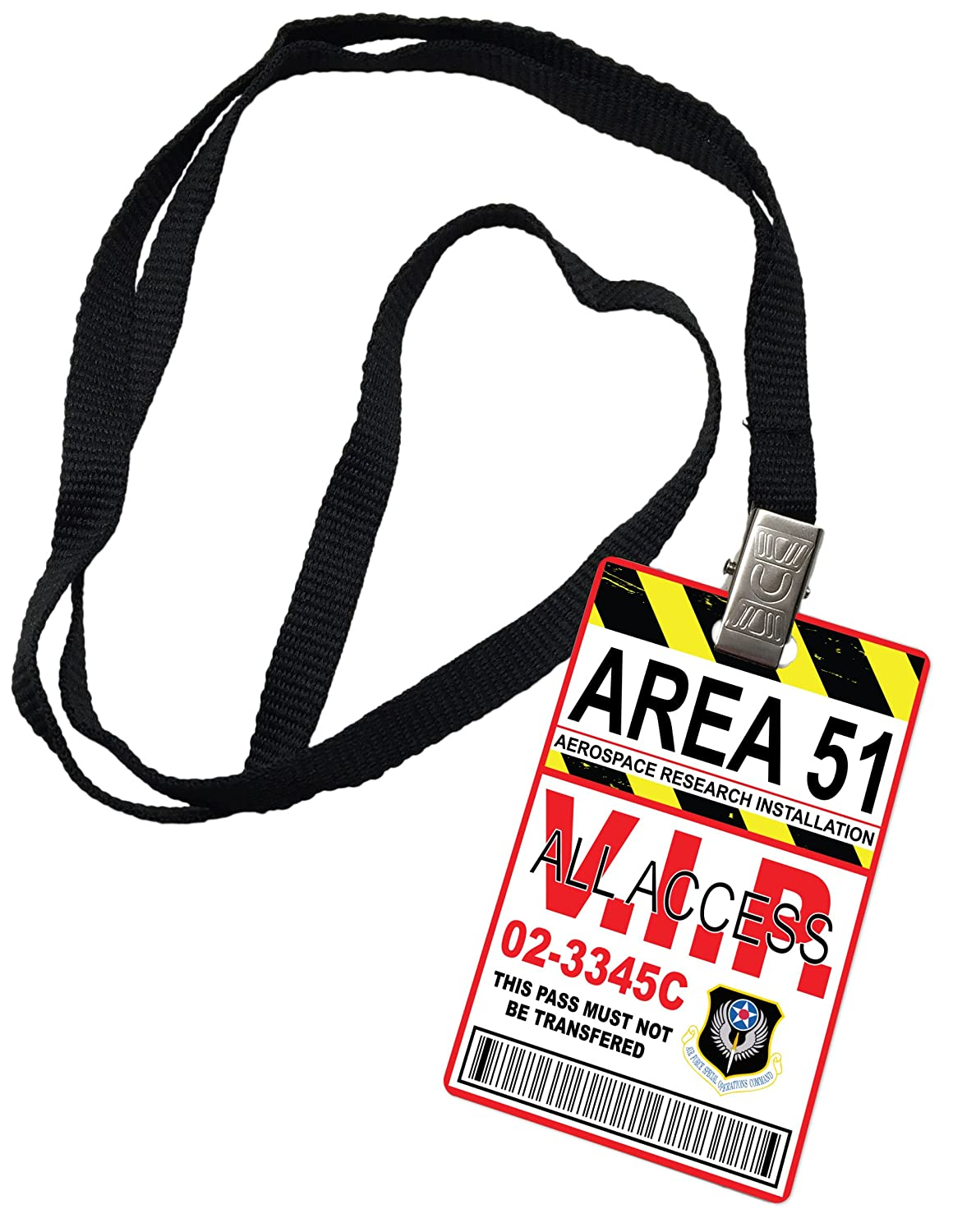 Area 51 All Access Novelty ID Badge Prop Costume