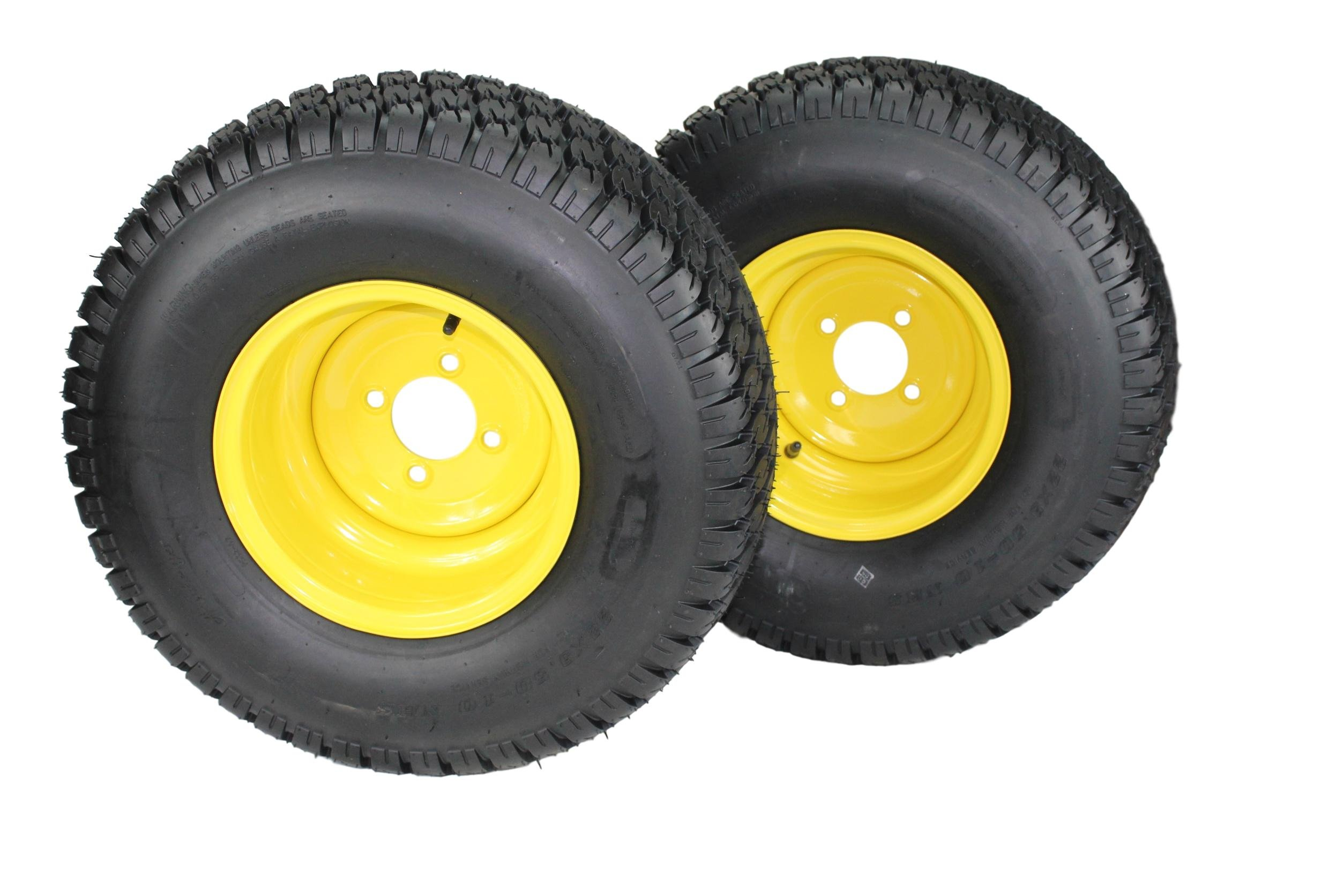 Antego 22x9.50-10 Tires & Wheels 4 Ply for Lawn & Garden Mower Turf Tires (Set of 2)