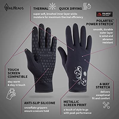 TrailHeads Women's Running Gloves