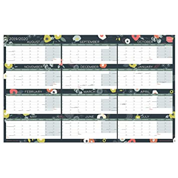 Calendario Contest Hf 2020.Boxclever Press Academic Wall Planner 2019 2020 Home Or Office Wall Chart Block Format Starts August 2019 To July 2020 Includes All Main Uk Dates