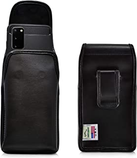 product image for Turtleback Holster Designed for Galaxy S20 (2020) Vertical Belt Case Black Leather Pouch with Executive Belt Clip, Made in USA