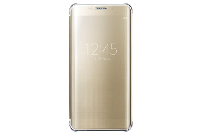 hot sale online a6ac1 d2f8f Samsung Galaxy S6 Edge Plus Case S-View Clear Flip Cover - Gold