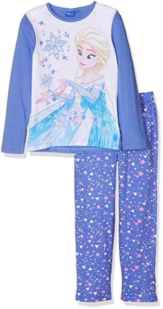 Disney Frozen Sisters, Conjuntos de Pijama para Niñas, (Blue 18-3946tc)
