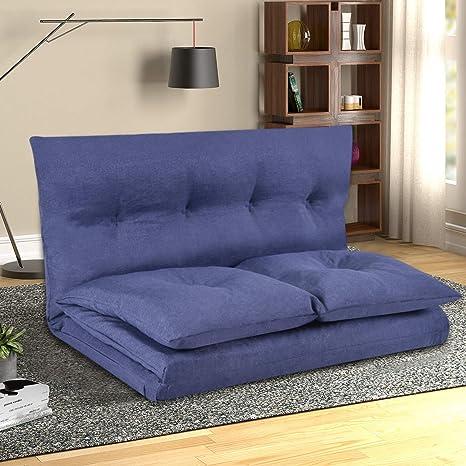 Enjoyable Merax Floor Sofa Bed Adjustable Sleeper Bed Futon Sofa Bed Video Gaming Sofa Lounge Sofa Dark Blue Andrewgaddart Wooden Chair Designs For Living Room Andrewgaddartcom