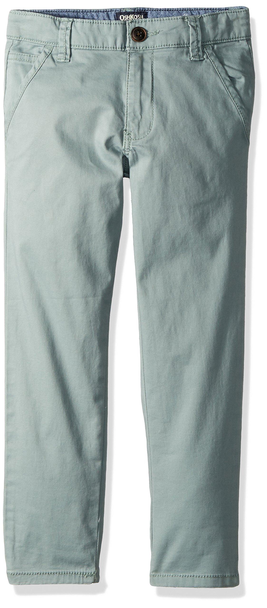 OshKosh B'Gosh Boys' Woven Pant 31813912, Green, 7 Kids