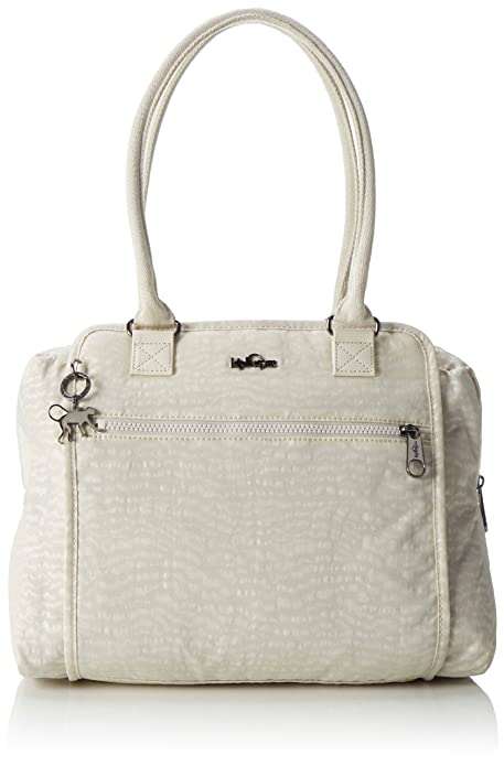 Kipling - Faye Fever, Bolso Mujer, Weiß (White Garden), One Size: Amazon.es: Zapatos y complementos