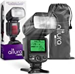 Altura Photo AP-UNV2 Camera Flash Light Speedlite with LCD Display for