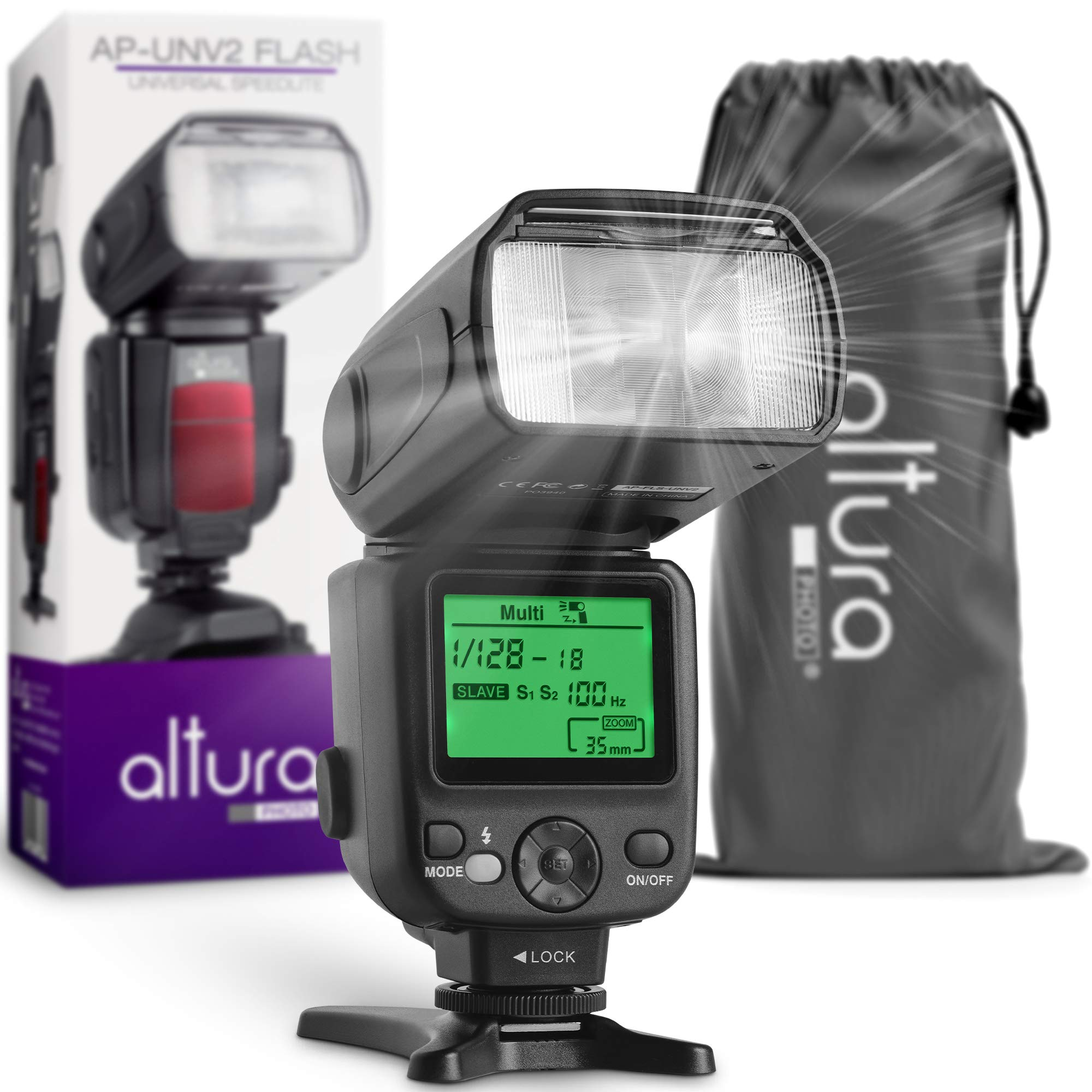 Flash Luz Speedlite con pantalla LCD para Canon Nikon.......