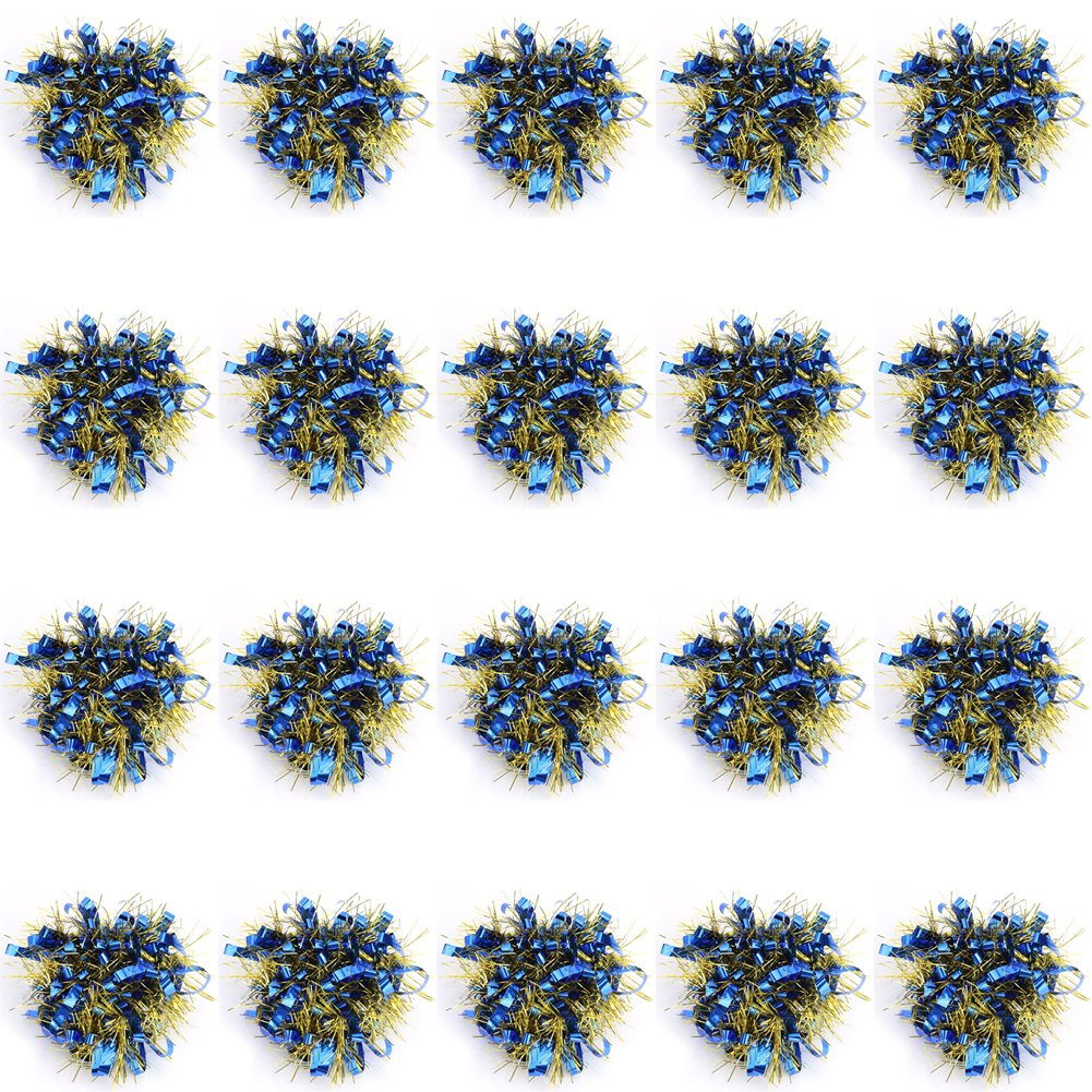 Alomejor Cheerleading Poms, Beautiful Dance Hand Decoration Wrist Flowers Sports Party Accessories (Dark Blue)