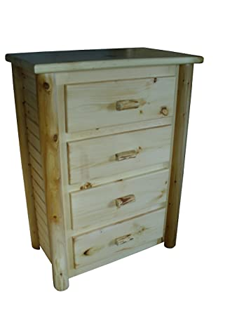 Image Unavailable Image Not Available For Color Rustic Log Dresser Chest Of Drawers Fullyembled