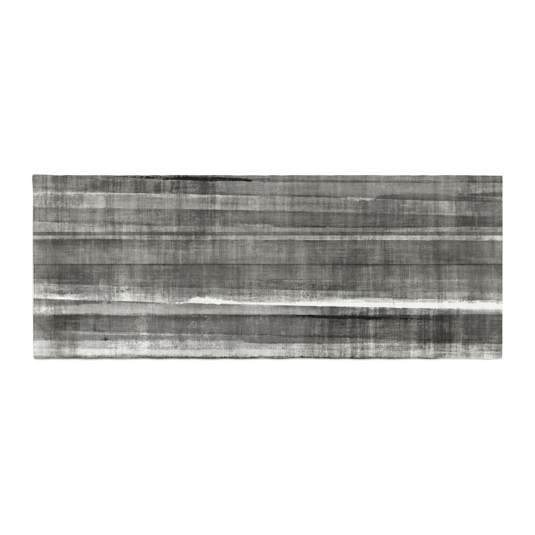 Kess InHouse CarolLynn Tice Grey Accent Dark Neutral Bed Runner, 34'' x 86''
