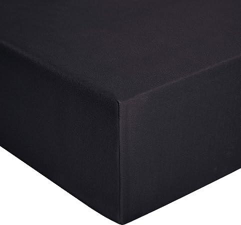 in jersey Grigio acceso di qualit/à superiore Lenzuolo con angoli 180 x 200 cm Basics