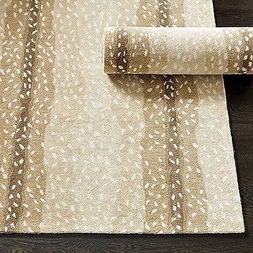 Wallard Design Antelope Animal Traditional Persian Handmade 100 Wool Rugs Carpets 6'x9'