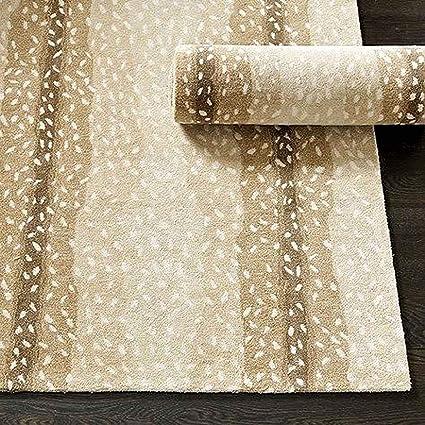 Ballard Designs Antelope Animal Traditional Persian Handmade 100% Wool Rugs  & Carpets (3\'x5\')