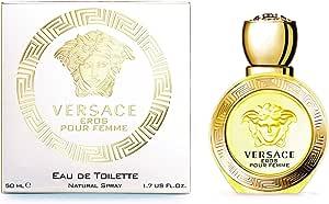 Versace Eros Pour Femme by Versace for Women - Eau de Toilette, 50ml