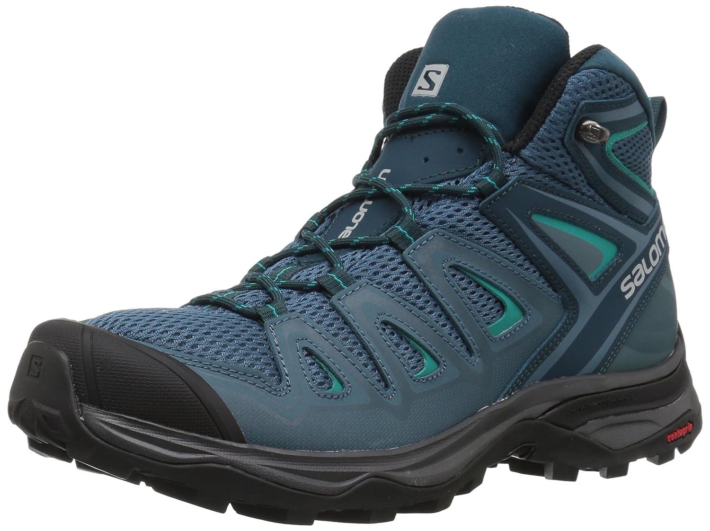 Salomon Women's X Ultra Mid 3 Hiking Shoes B073K4L1GG 5.5 M US|Mallard Blue