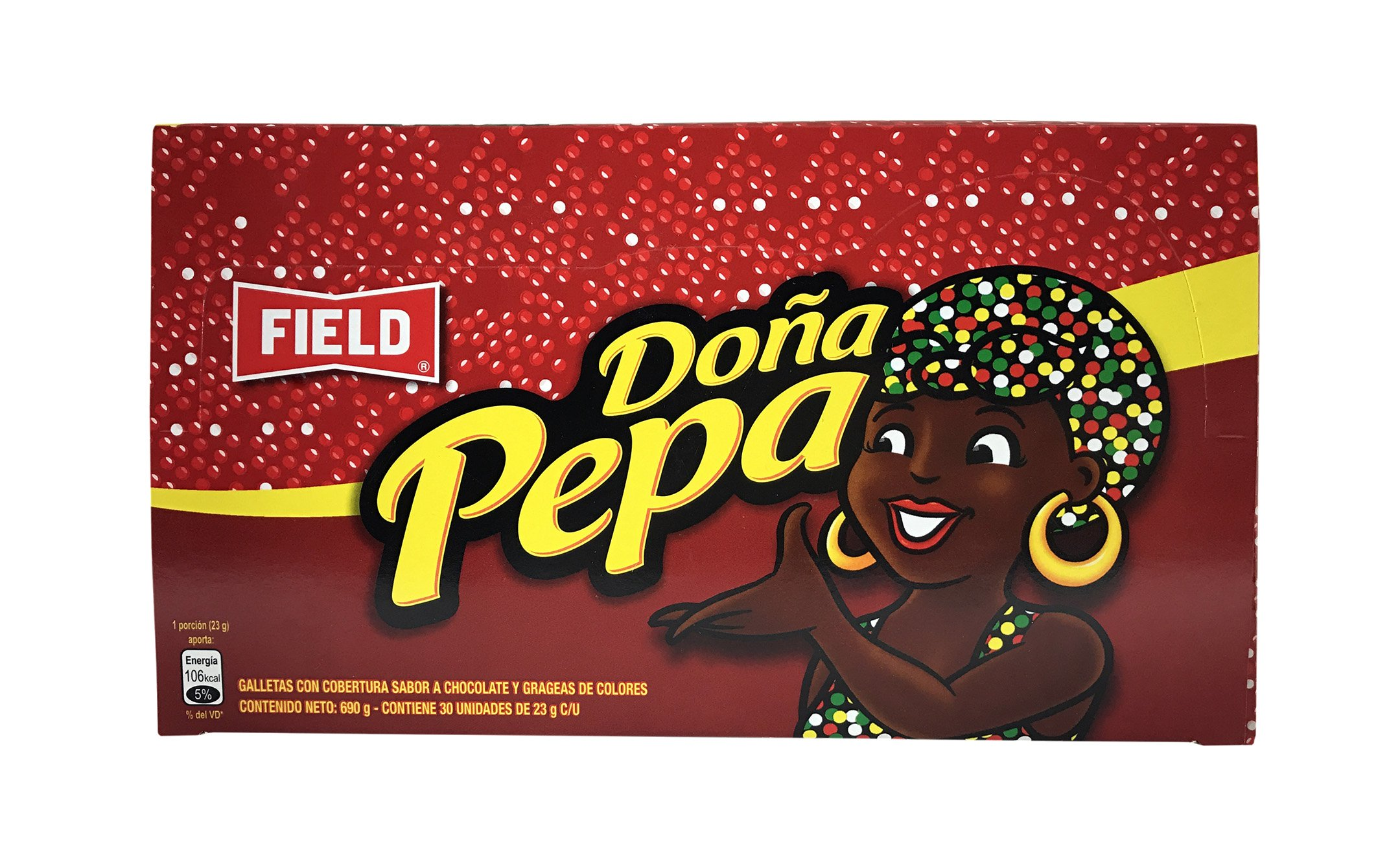 Field Galleta Con Chocolate Dona Pepa - Peruvian Cookies - 3O Pieces per Pack