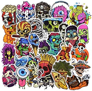 Laptop Stickers, Computer Stickers for Laptop Water Bottles Hydro Flask Car Bumper Skateboard Guitar Bike Luggage Waterproof Vinyl Decals Cool Graffiti Stickers Pack (50 Pcs Horror Series A Stickers)