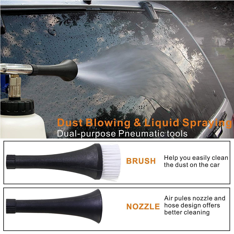 Outil de Nettoyage de Brosse de Nettoyeur Haute Pression pour Voiture de Moto NWHEBET Pistolet de Nettoyage de Voiture Tornado