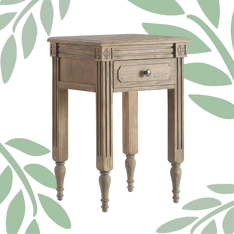 Finch Elmhurst End Table Distressed Wood Furniture Decor