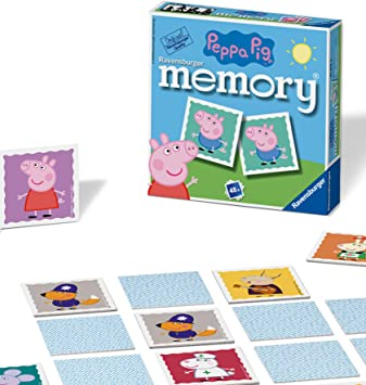 Ravensburger Peppa Pig-Mini memoria para niños a partir de 3 años clásico a juego de pares, 0 (21376) , color/modelo surtido: Amazon.es: Juguetes y juegos