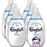Comfort Pure Ultra Concentrated Fabric Conditioner, 3.42 L - 228 Washes (38 Washes x Pack of 6)