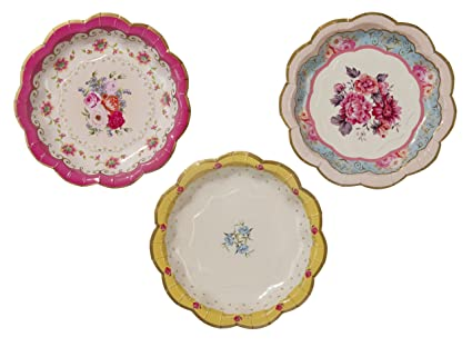 Talking Tables Truly Scrumptious Disposable Plates 12 count 6.5 inches for Tea Party or  sc 1 st  Amazon.com & Amazon.com: Talking Tables Truly Scrumptious Disposable Plates 12 ...