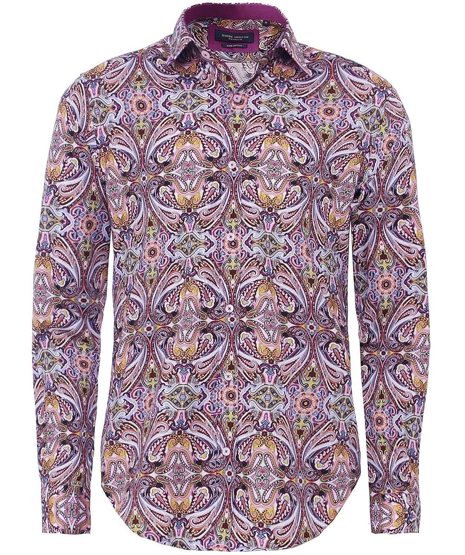Guide London Men's Paisley Shirt Multi Coloured