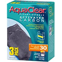 AquaClear A1382 Activated Carbon Insert, 30-Gallon Aquariums, 3-Pack