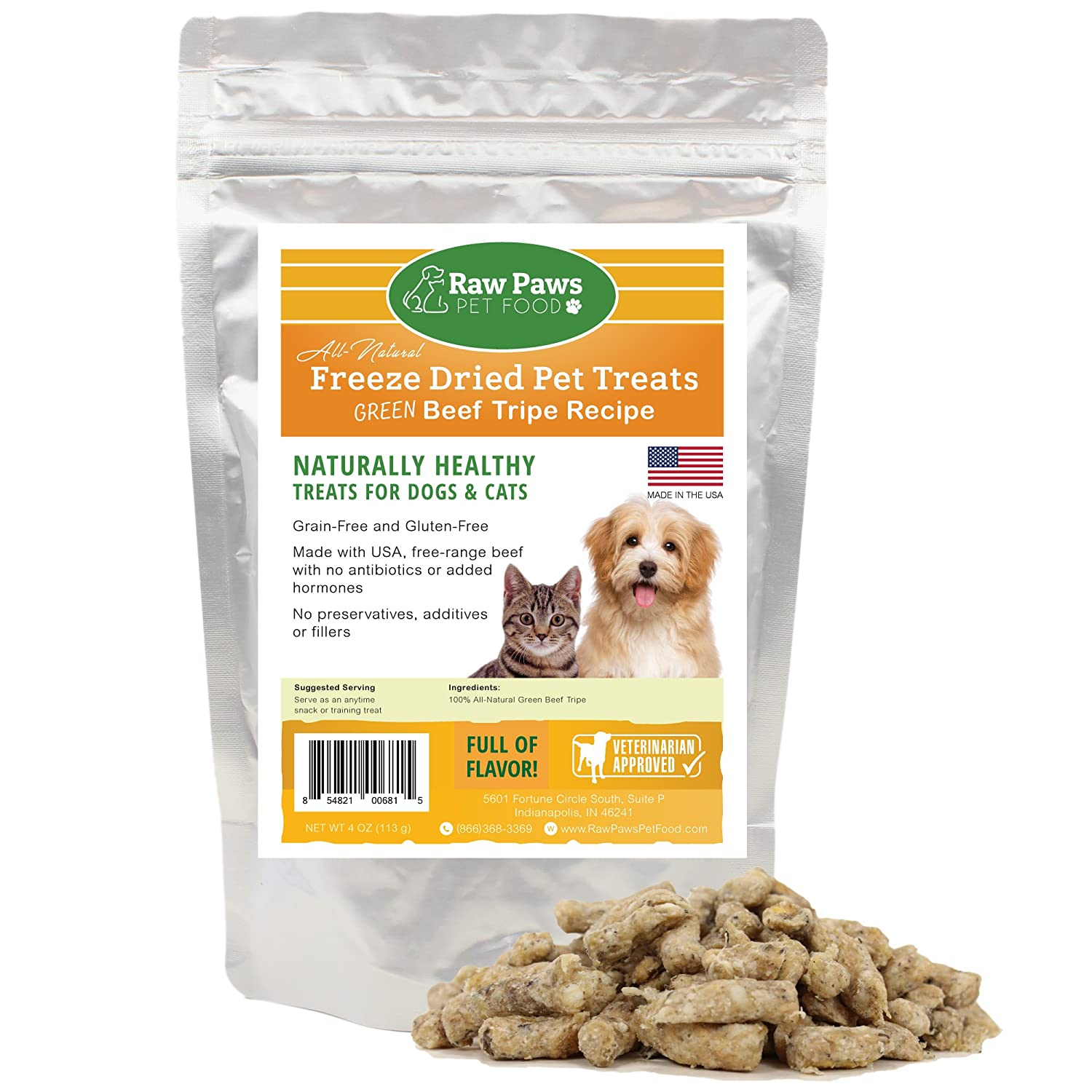 Amazon raw paws pet premium raw freeze dried green tripe amazon raw paws pet premium raw freeze dried green tripe treats for dogs cats 4 ounce all natural pet snacks grass fed beef made in usa only forumfinder Images