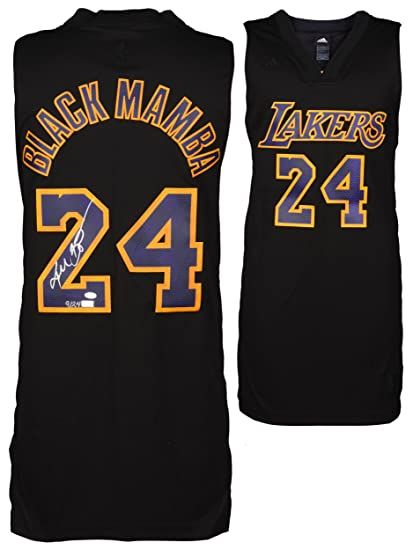 fe3b35d091d8 Kobe Bryant Autographed Limited Edition Black Mamba Jersey - Panini - LE 7  of 24 - Autographed NBA Jerseys at Amazon s Sports Collectibles Store