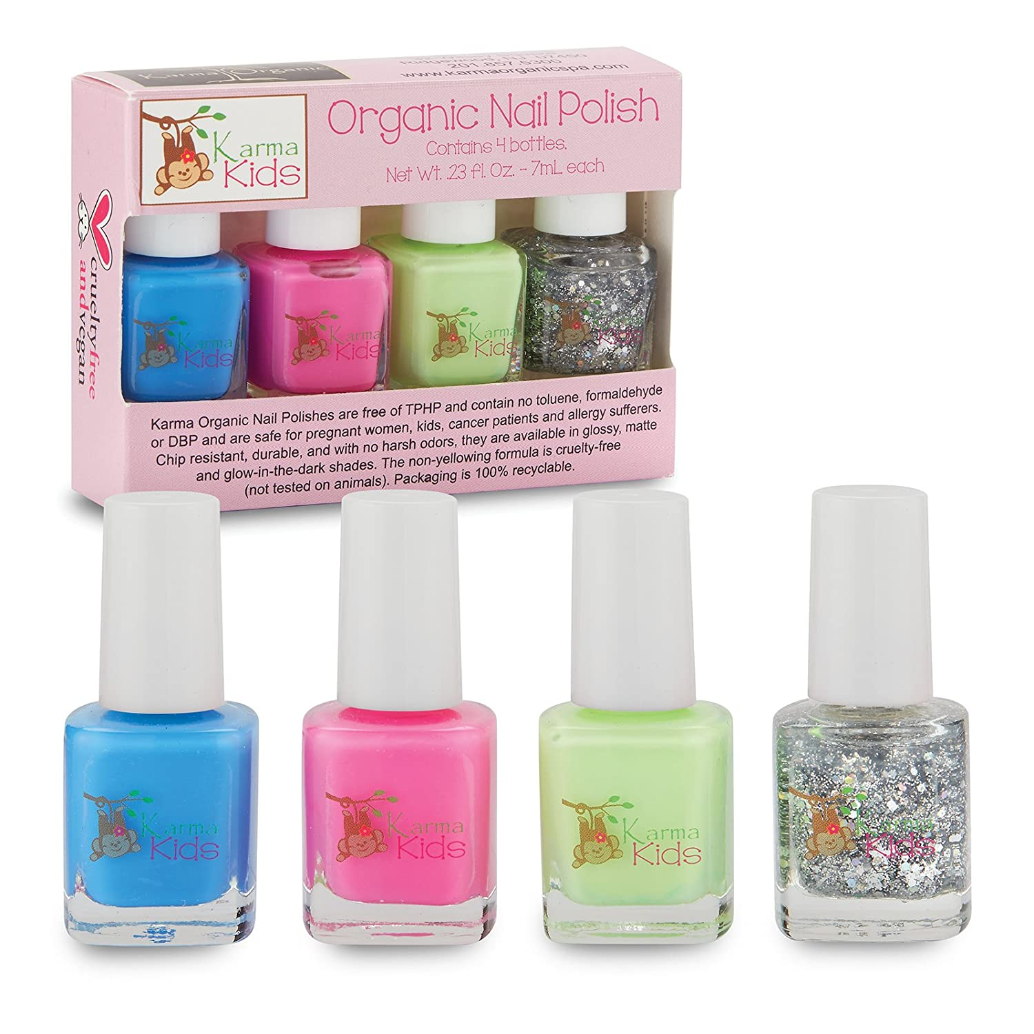 Amazon.com: Karma Kids Box Set No. 1 - Nail Polish; Non-Toxic, Vegan ...