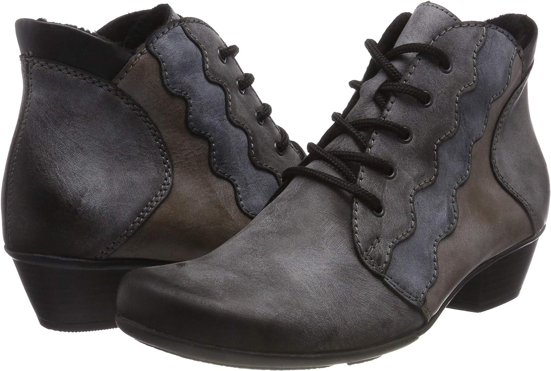 Rieker Y7331-45 Asphalt Grey Lace Up Ankle Boots