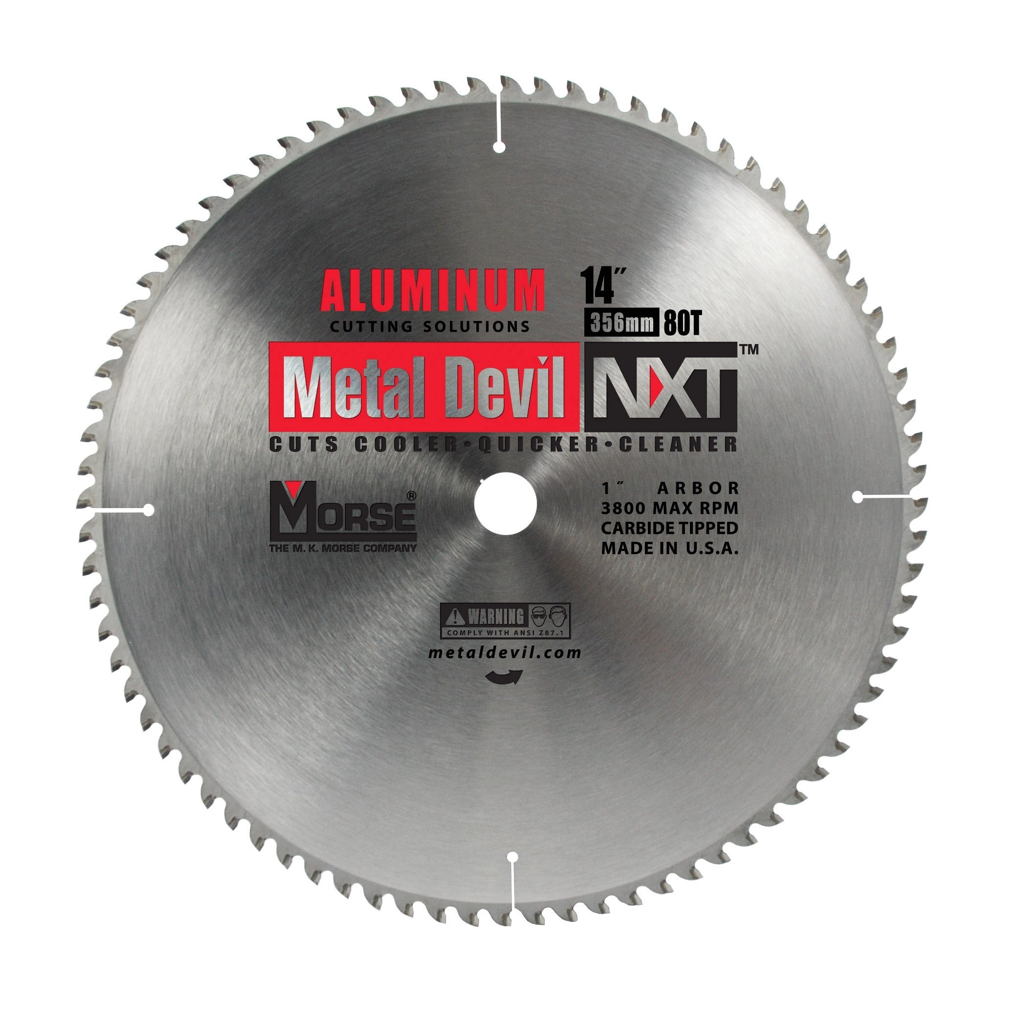 Morse CSM1480NAC Circular Blade for Cutting Aluminum, 14-Inch, 80 Teeth by Morse