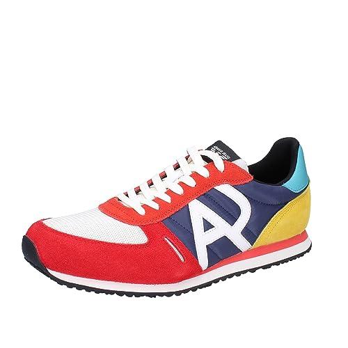 43fa3aeff8527 ARMANI JEANS 935027 7P420 MULTICOLOR ZAPATILLAS DE DEPORTE Hombre  MULTICOLOR 44.5  Amazon.es  Zapatos y complementos