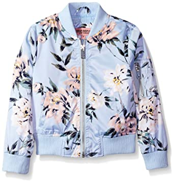 5c82ed7dc654 Amazon.com  Urban Republic Girls  Printed Sateen Bomber Jacket  Clothing