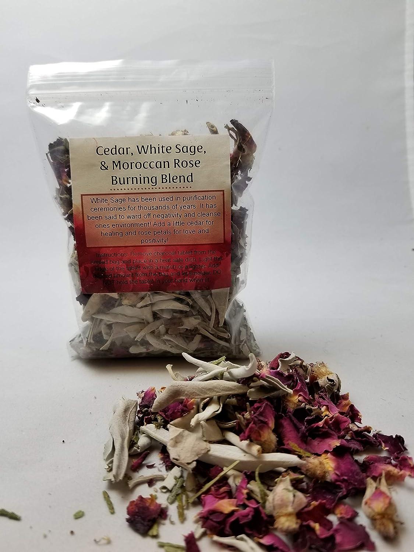 Amazon com: Cedar, White Sage, Moroccan Rose Burning Blend