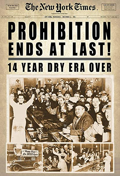 Image result for Prohibition ends
