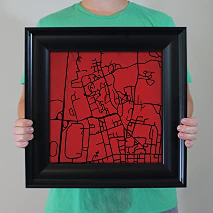 Amazon Com University Of Massachusetts Amherst Campus Map Art