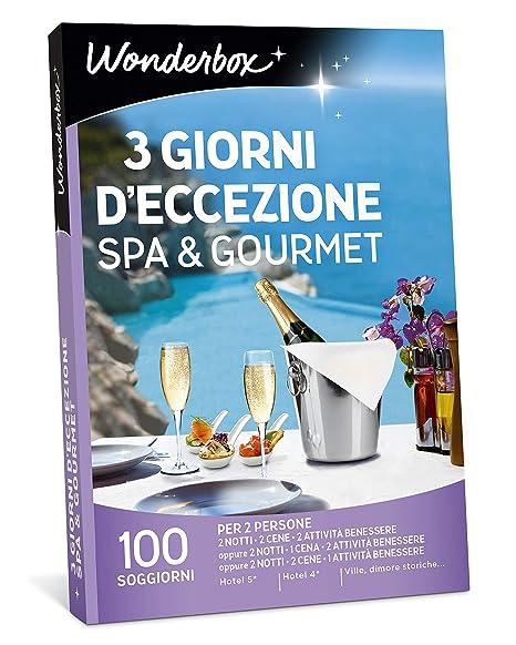 WONDERBOX Cofanetto Regalo - 3 Giorni D\'ECCEZIONE Spa & Gourmet ...