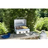 mark portable stainless steel gas grill with cover