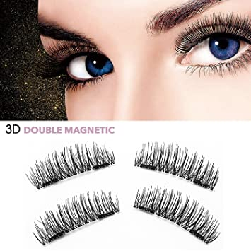 Halloween 3D Reusable Magnetic Fales Eyelashes - No Fake Eyelashes glue 0.2mm Ultra-thin
