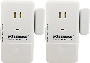 2-Pack Doberman Security Ultra-Slim Design Security Alarm