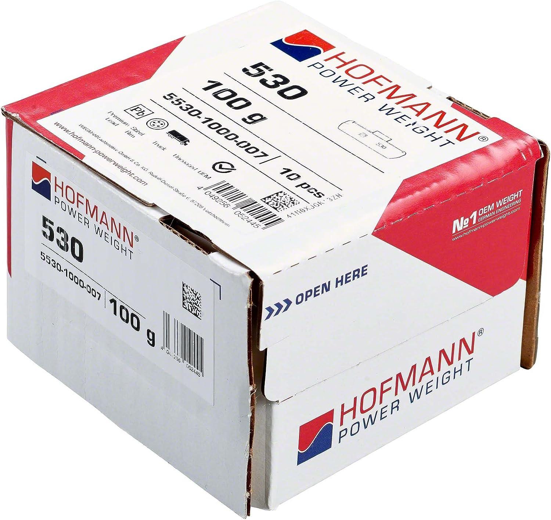Poids equilibrage Hofmann Power Weight Type530 5530-1000-007 argent 100g 10x Masses dequilibrage jantes acier camion